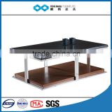 fairy black painting tempered glass top wooden coffee table