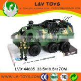 Hot-selling friction power toy military truck ,kids toys car