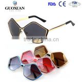 2015 pentagonal frame design newest most popular women sunglasses