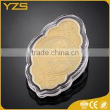 Factory custom gold gift box bulk souvenir proof coin