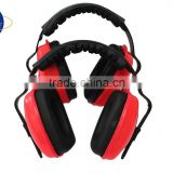 red and black military earmuff safety product