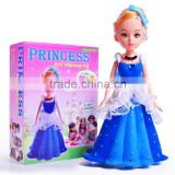 Adorable fashion birthday gift for girl barbie doll dress chinese doll baby girl brithday gift