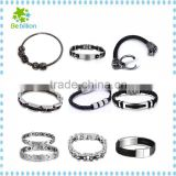 BeBillion stainless steel bracelet 2015 fashion 316L stainless steel bike chain bracelet