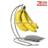 chrome plated metal wire banana rack, banana hanger, fruit holder