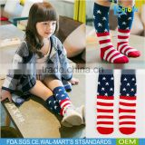 American flag pattern comfortable Girls baby cartoon socks animal Over Calf Knee High Socks