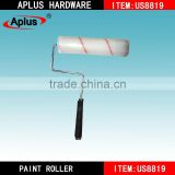 Polyester and acrylic blended fabrics wall decorative Red and white stripes paint roller brush