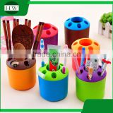 multipurpose color plastic toothpaste toothbrush penholder storage pen container case box holder