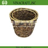 Hot sales Eco-friendly wicker waste basket in corlor for kitchen