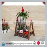 Europe Regional and garden and home decoration use wooden flower plnter rack