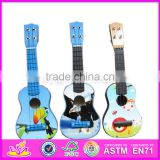 Top fashion wooden toddler guitar high quality mini wooden toddler guitar W07H014-S