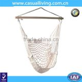 Outdoor Garden Camping Hammock With Stand Quilted HammockSolid Wood Hammock Chairs Cotton Rope