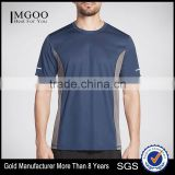 100 Percent Soft Polyester Mesh Fabric Train Tee Active Stretch Fabric Reflective Logos Gym Shirt Cool And Dry Run Tops Custom