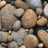 Outdoor Large River Cobbles/ Pebbles Stones Irregular Round