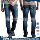 High quality biker brand name mens slim fit denim jeans for wholesale