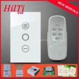 US Crystal Tempered Glass Panel Touch Screen Digital Wireless Timer Switch With Blue LED Indicator 110-240VAC/50Hz~60Hz