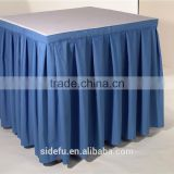 Wholesale Customized Fancy Square Ruffled Table Skirt
