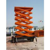 SJY four-wheels mobile scissor lift