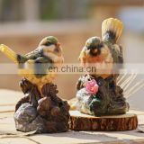 resin bird ornaments for home