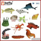 Realistic mini plastic marine ocean sea animals model toy