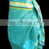 Promotional 100% Cotton / 100% Polyester / 100% Rayon Printed Pareo for Beach