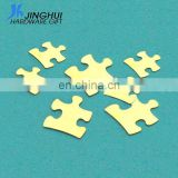 Brass Piece Stamping Blank Charms Jigsaw Puzzle Parts