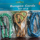 SG2106 6PC Bungee cord set 2pc luggage straps Climbing rope