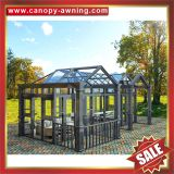 prefabricated outdoor garden alu aluminum metal glass sunroom sun house-excellent aluminium framework,super durable!