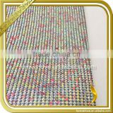 Colorful Aluminum base crytal hot fix rhinestone mesh heat transfer rhinestone tape FRM-167                                                                                                         Supplier's Choice