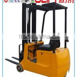 small mini electric forklift truck three wheels electric forklift truck                                                                         Quality Choice