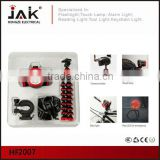 JAK multifunction LED emergency light/alarm light/head and bike light/light sets