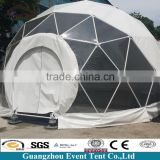 White geodesic dome tent marquee strong steel frame with pvc cover used tens for sale, carpa domo elengante de vente