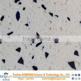 Glass quartz stone slab with nice design/artificial quartz stone with zircon for good looking