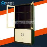 High Quality Swivel Mirror Steel Master File Cabinets Glass swing Door Pantry Filing Cabinet