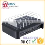 Black desktop phone charging dock multi usb charger hub                                                                                                         Supplier's Choice