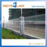 high security and pratical wire mesh fence galvanized solar mounting fence solar panel mounting fence braket