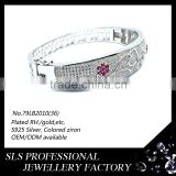 2015 new style bracelet wholesalers jewelry 925 sterling silver white gold plating bracelet connected ring -SLS