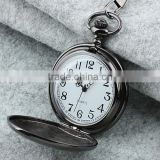 Fashion Men Silver Gray Case White Dial Pocket Watch WP101
