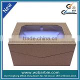 gift luxury packaging paper box with pvc window
