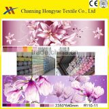Big flowers twill polyester brushed printed textile fabric with roll packing from changxing manufacturer