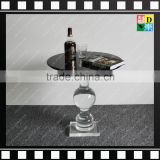 2016 Modern Simple Transparent / clear acrylic coffee table with black stone in living room for home/hotel/office