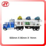 Modern toy world big truck toy and 6 mini car by ABS with good quality with EN71 for child
