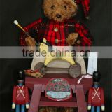 XM-A6039B 22 inch Teddy bear workshop for christmas decoration