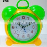 plastic melody bell flashing light bird chirping analog desktop clock