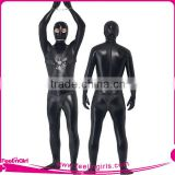 Wholesale Black Sexy Tight Leather Catsuits For Men Full Body