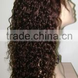 100% Indian remy curly good quality full lace wigs for women