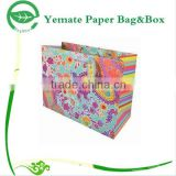 Paper Bag Manufacturer! custom handmade CMYK colorful printed carry shopping paper candy bag