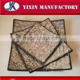 Home deco craft golden and silver msoaic glass plates /Mosaic plate for home&wedding decoration27/Glass mosaic