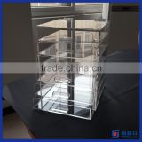 Manufacturer supplier customized clear acrylic counter makeup organizer drawer / 5 tier acrylic makeup organizer