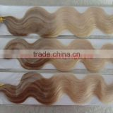 AAAA++++ quality italy pre-bonded hair extensions,20'', P(T8#/24#)/(T14#/60#), wavy