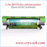 3.2m X8126 Xenons Eco Solvent Printer With Double DX7 Printhead